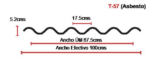 Perfil acanalado T-57