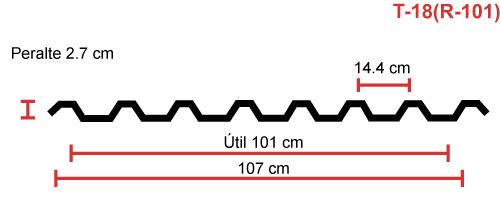 Perfil acanalado T-18