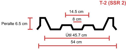 Estructura lámina T-2