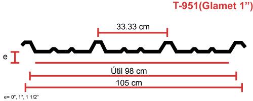 Perfil acanalado T-951